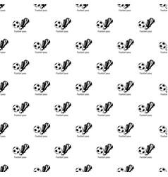 football pass pattern seamless vector image