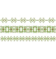 Green border vector