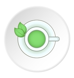 Green tea icon flat style vector image