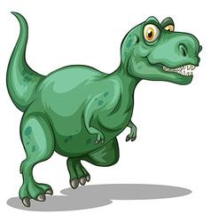 Green tyrannosaurus rex standing vector