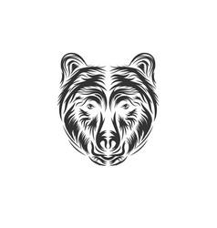Hand drawn bear head vector