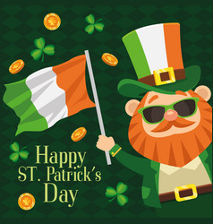 Happy saint patricks day lettering poster with vector
