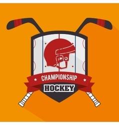 Hocket sport game vector image