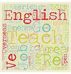 How To Be A Modern Day Globetrotter Teach English vector image