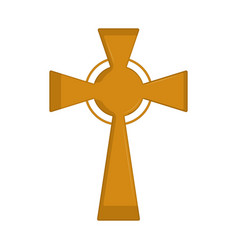 isolated cross icon vector image