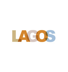Lagos phrase overlap color no transparency vector