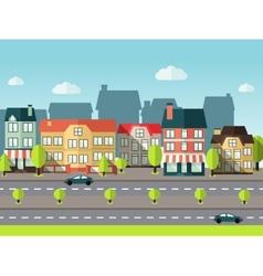 Landscape city background vector