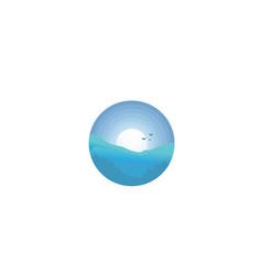 Landscape view logo vector
