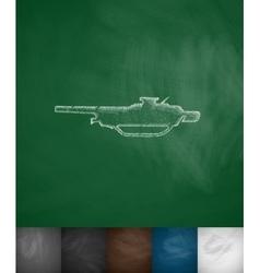 machine gun icon vector image