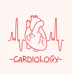 Medical symbol cardiology vector