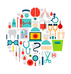 medicine icons circle vector image