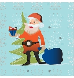Merry Christmas greeting card with santa designs vector