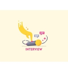 Microphone interview icon vector