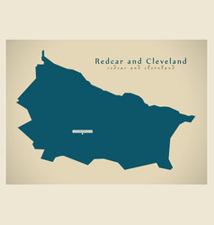 Modern map - redcar cleveland unitary authority vector