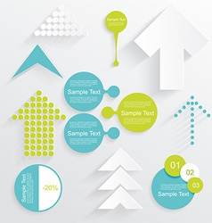Modern set of business infographic elements vector