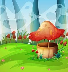 Mushroom will in the field vector