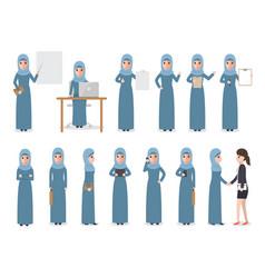 Muslim businesswoman vector