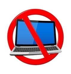 No Laptop Area vector image