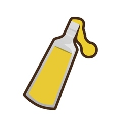 Olive oil bottle jug pitcher icon vector