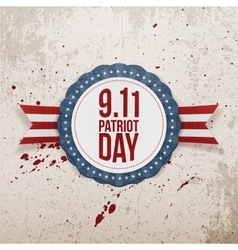 Patriot Day circle Badge with Ribbon vector image