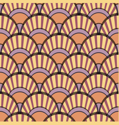 peacock tails pink seamless patter vector image