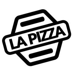 pizza black stamp vector image