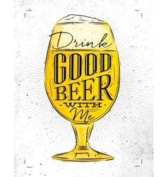 Poster good beer vector