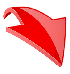 red 3d shiny down arrow vector image