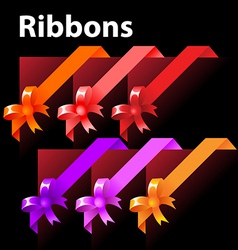 ribbon with knot vector image