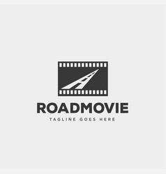 Road movie or cinema negative logo template icon vector