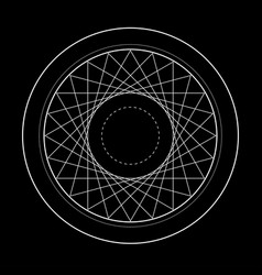 Sacred geometry symbol of vector