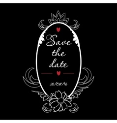 save date vintage frame perfect vector image