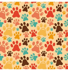seamless pattern with animal paws vector image