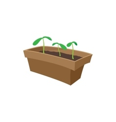 Seedling icon cartoon style vector