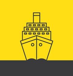 Ship sea cruise liner vector