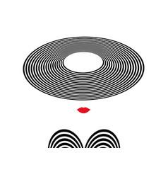 shop logo fashion woman company logo design vector image