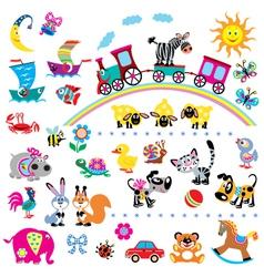 Simple children pictures vector