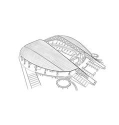 Sketch of the main stadium in sochi vector