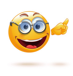 smart smiley with glasses vector image