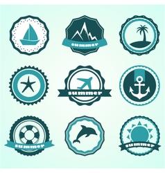 summer badges vector image