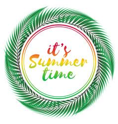 summer time design on white background vector image