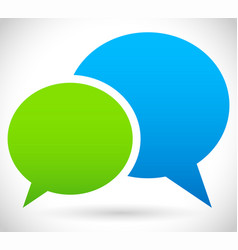 two overlapping speech talk bubbles communication vector image