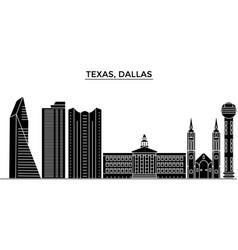 Usa texas dallas architecture city skyline vector