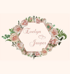 wedding horizontal floral invitation invite card vector image