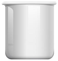 White beaker on white vector