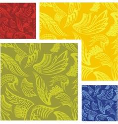 Wings - seamless pattern set vector image