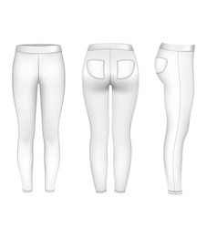 Women sport pants mockup gym vector