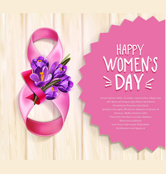 background to the 8th of march womens day vector image