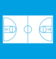 Basketball field icon white vector