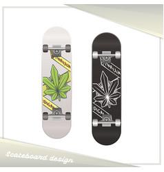 medical marijuana skateboard one vector image vector image